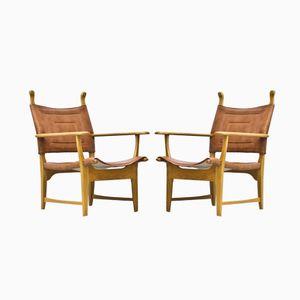 Armchairs by Carl Malmsten & Yngve Ekström for ESE Möbler, 1950s, Set of 2