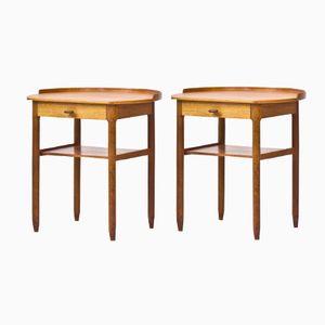 Bedside Tables by Sven Engström & Gunnar Myrstrand for Bodafors, 1963, Set of 2