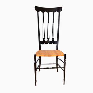 Italienischer Stuhl mit Hoher Rückenlehne von Legerissima Chiavari für Chiavarine, 1960er