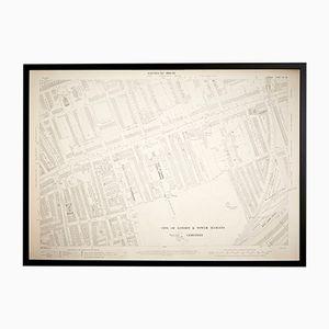 Mappa vintage Ordnance Survey di Tower Hamlets, Londra