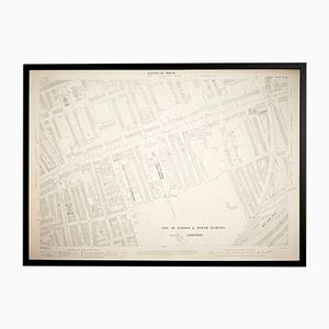 Vintage London Tower Hamlets Ordnance Survey Map