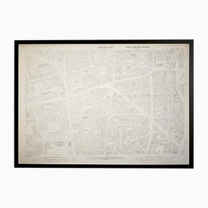 Mappa vintage Ordnance Survey di Shoreditch, Londra