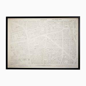 Vintage London Shoreditch Ordnance Survey Map