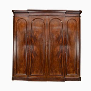 Antiker Viktorianischer Mahagoni Kleiderschrank