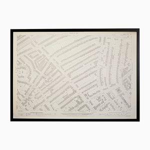 Mappa vintage Ordnance Survey di St. John's Wood, Londra