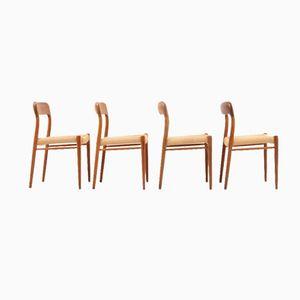 Esszimmerstühle von Niels O. Møller, 4er Set