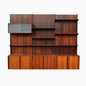 Modular Rosewood Wall Unit by Kai Kristiansen for FM Møbler, 1960s