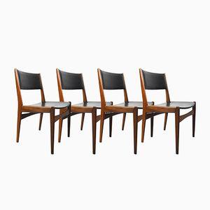 Dänische Teak Stühle von Poul Volther für Frem Røjle, 1960er, 4er Set