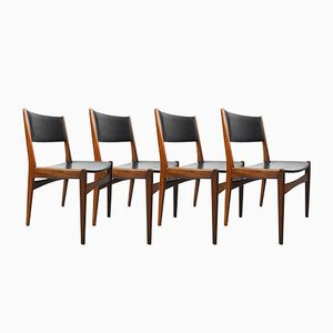 Danish Teak Chairs by Poul Volther for Frem Røjle, 1960s, Set of 4