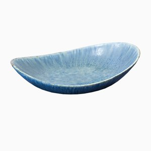 Blue Stoneware Bowl by Carl-Harry Stålhane for Rörstrand, 1950s