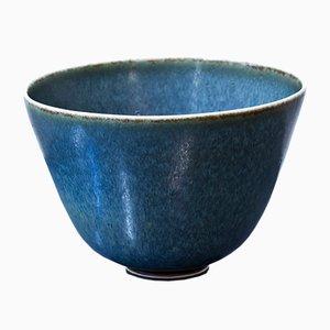 Blaue Keramik Schüssel von Gunnar Nylund für Rörstrand, 1950er
