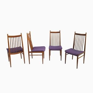 Scandinavian Teak Chairs, 1960s, Set of 4