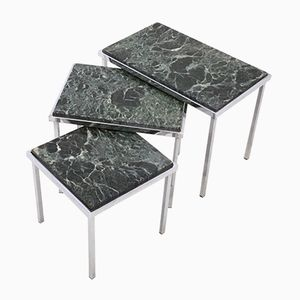 Green Alps Marble Nesting Tables, 1970s