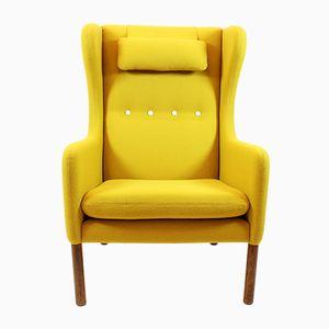 Yellow Scandinavian Mid-Century Armchair