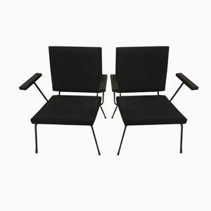 1407 Armlehnstühle von Wim Rietveld für Gispen, 1950er, 2er Set