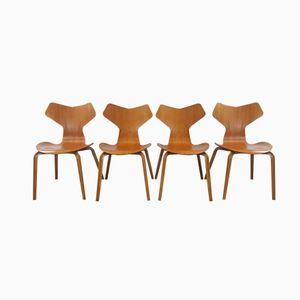 Modell 3130 Grand Prix Stühle von Arne Jacobsen für Fritz Hansen, 1967, 4er Set