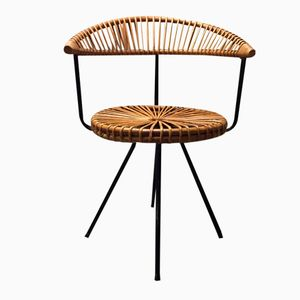 Rattan Chair by Dirk van Sliedregt for Gebroeders Jonkers, 1950s