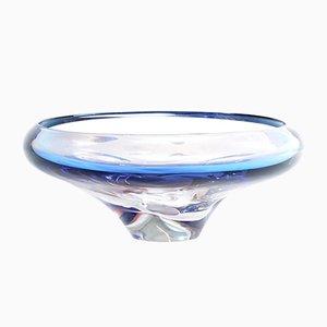 Czech Purple Glass Bowl from Skláreň Chribská, 1960s