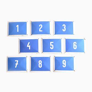 Placche blu con numeri, Slovacchia, anni '60