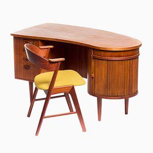 mid century schreibtisch von kai kristiansen f r feldballes m belfabrik 1960er bei pamono kaufen. Black Bedroom Furniture Sets. Home Design Ideas