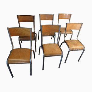 Chaises d'Ecole Industrielles de Mullca, 1950s, Set de 6
