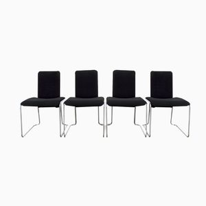 Mid-Century Dutch Dining Chairs by Walter Antonis for Hennie de Jong Nederland, 1980s, Set of 4