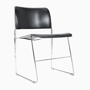 Dutch Model 40/4 Metal Dining Room Desk Chair by David Rowland for Howe, 1964