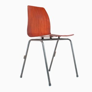 Dutch Industrial School Chair from Pagholz, 1967