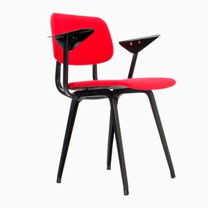 Dutch Red Revolt Dining Desk Chair by Friso Kramer for Ahrend, 1954