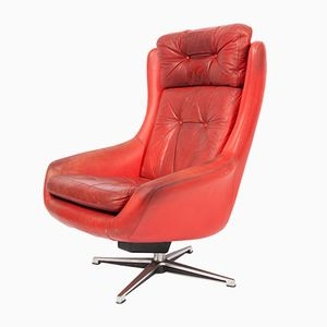 Finnish Leather Armchair from Peem