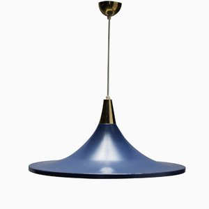 Blue Pendant by Stilnovo, 1950s