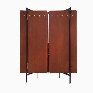 Garderobe aus Schichtholz & Messing von La Permanente, 1950er