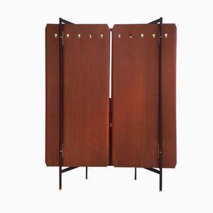 Plywood and Brass Wardrobe by La Permanente, 1950s