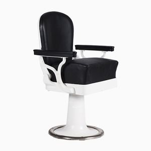 Black and White Barber's Chair