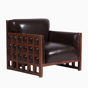 Leather Armchair from Hotel Praha