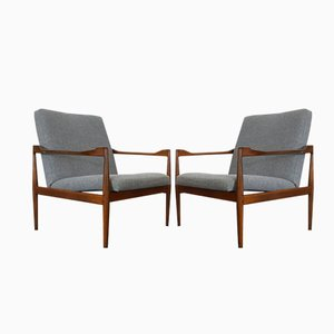 Model 4300 Lounge Chairs by Kai Kristiansen for Fritz Hansen, 1960, Set of 2