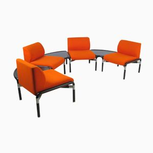 Vintage Orange Modular Living Room Set