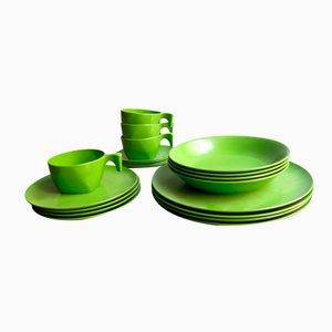 Modernistsche Melamine Tischware Set in Grün