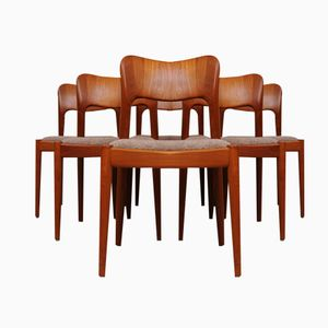 Mid-Century Dining Chairs by Niels Koefoed for Hornslet Møbelfabrik, Set of 6