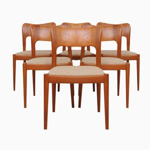 Mid-Century Teak Dining Chairs by Niels Koefoed for Hornslet Møbelfabrik, Set of 6