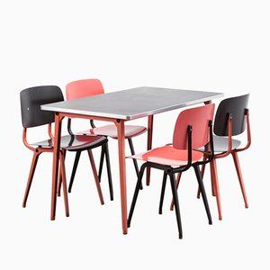 Revolt Chairs & Reform Table Dining Set by Friso Kramer for Ahrend de Cirkel, 1954