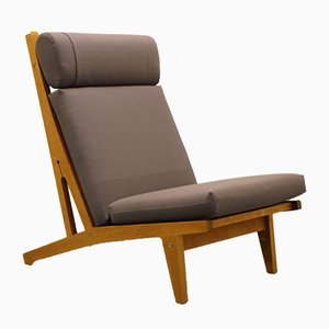 Danish Oak Lounge Chair by Hans J. Wegner for Getama, 1960s