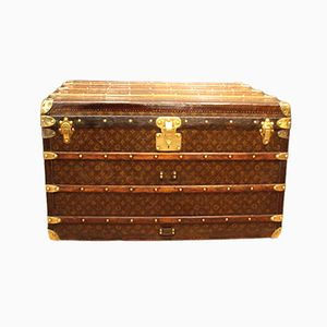 Stencilled Monogramm Canvas Steamer Trunk from Louis Vuitton, 1920s