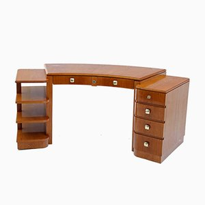 French Curved Art Deco Desk, 1930s
