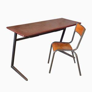 Schulbank und Stuhl Modell 510 von Mullca