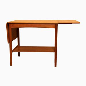 Extendable AT 32 Teak Coffee Table by Hans J. Wegner for Andreas Tuck