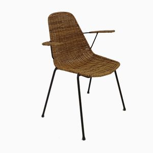 Italian Rattan Chair by Campo e Graffi, 1950s