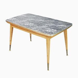 Extendable Table with a Marble Pattern, 1960s