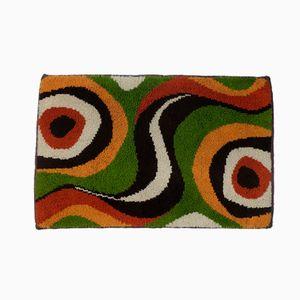 Handgewobener Deutscher Teppich aus Wolle, 1970er