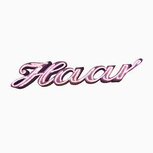 Vintage Haar Neon Schriftzug
